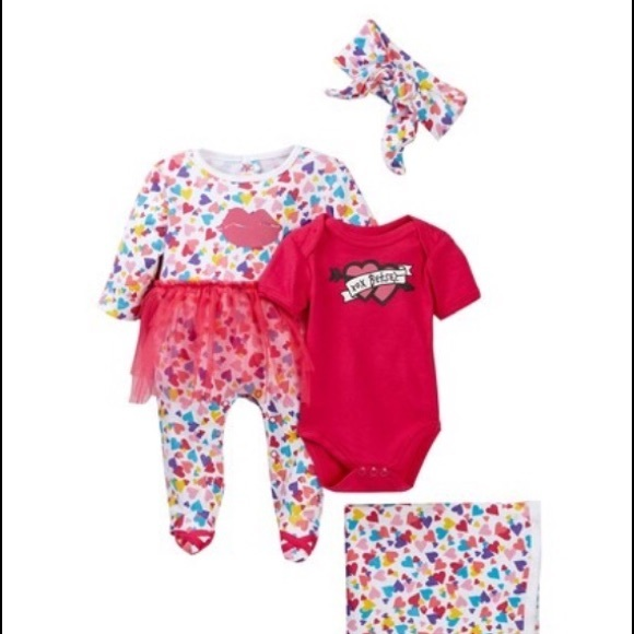 6ba0906db34f Betsey Johnson Matching Sets | Betsy Johnson Baby Girl 4 Piece Set ...